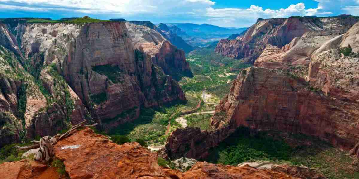 Arial View Zion National Park